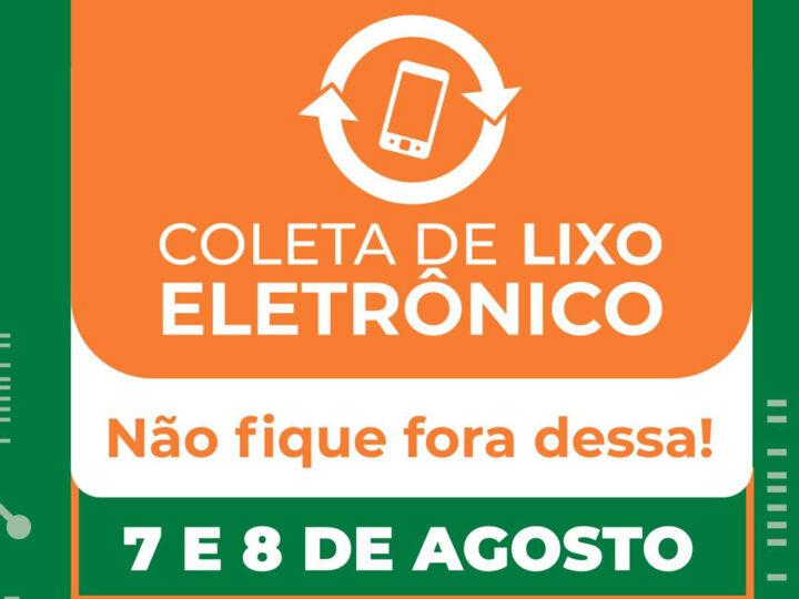 Três Lagoas: Coleta de Lixo Eletrônico será realizada nos dias 07 e 08 de agosto