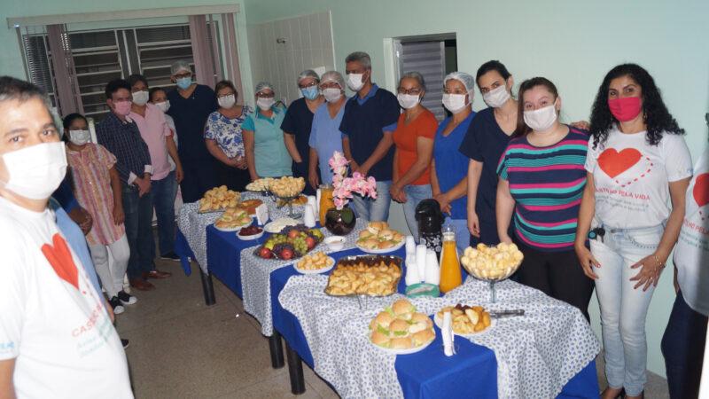 Castilho: Prefeita Fátima comemora aniversário da cidade e do Hospital com café da manhã