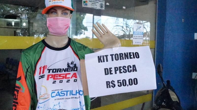 Castilho: Kits do Torneio de Pesca continuam a venda na Prefeitura